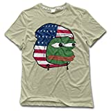 NUBIA Men's Feels Bad Man Frog Geek T-shirt Natural Size M