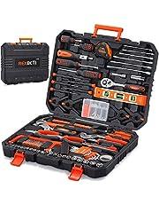 مجموعة أدوات 217 قطعة من ريكسبيتي، مجموعة أدوات يدوية منزلية عامة مع صندوق أدوات صلب للحمل، مجموعات أدوات الإصلاح التلقائي