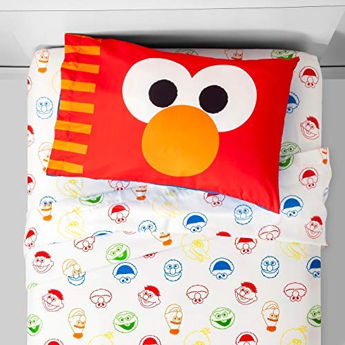 (Franco Sesame Street Elmo Twin 3 Piece Sheet Set)