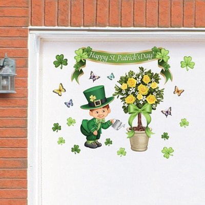 Incroyable St. Patricku0027s Day Irish Shamrock Garage Door Magnet Set (leprechaun Topiary)