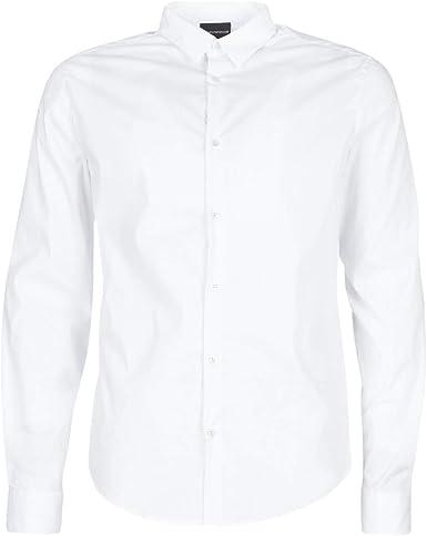 EMPORIO ARMANI 6G1C09-1N6RZ-0100 Camisas Hombres Blanco - XXL - Camisas Manga Larga: Amazon.es: Zapatos y complementos