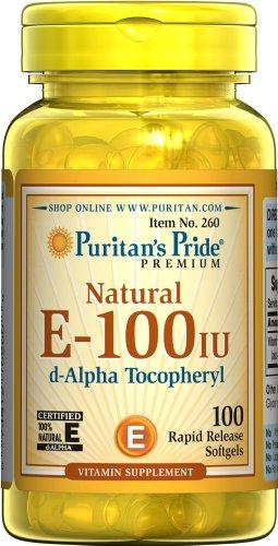 Puritan's Pride Vitamin E-100 iu 100% Natural-100 Softgels