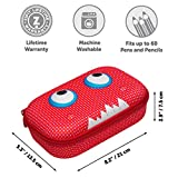 ZIPIT Beast Pencil Case/Pencil Box/Storage Box, Red
