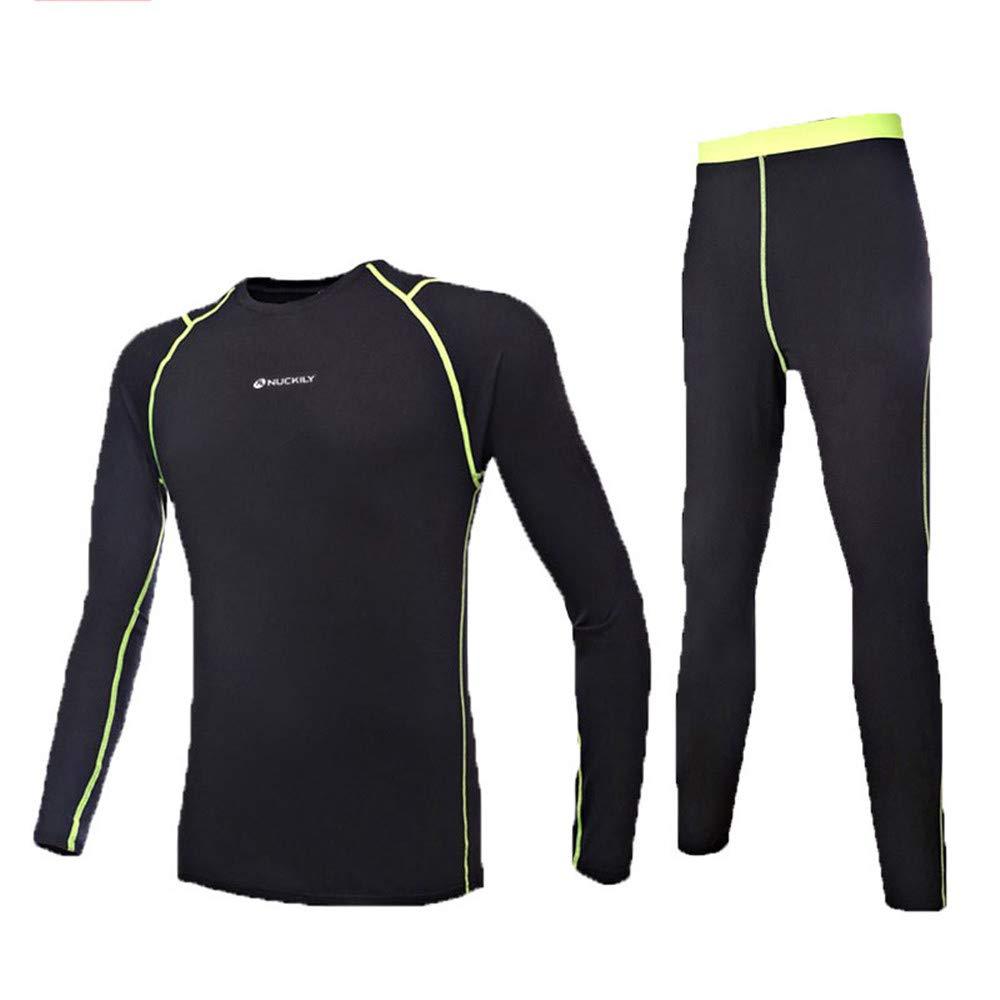 Aszhdfihas Winter warme Strumpfhosen mit kaltem Unterwäschesatz für Outdoor-Sportbekleidung, die Fleece fangen (Farbe   Schwarz, Größe   XL)