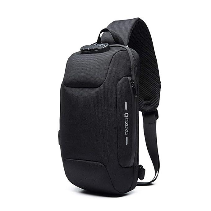 Amazon.com: OZUKO - Mochila con bandolera, USB antirrobo ...