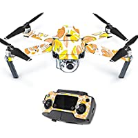 MightySkins Protective Vinyl Skin Decal for DJI Mavic Pro Quadcopter Drone wrap cover sticker skins Yellow Petals