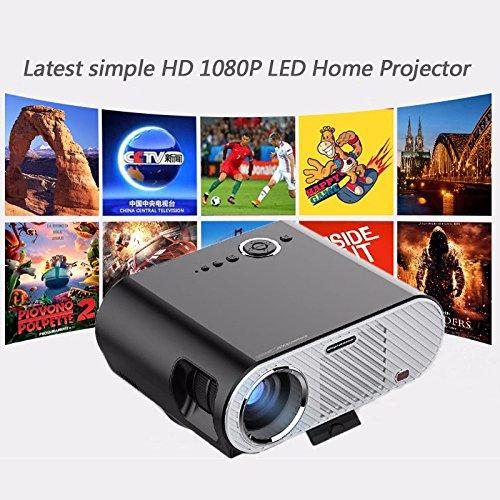 Androidスマートバージョン200インチの画像画面1280x800スマートAndroid WifiシネマUSBフルHDビデオWXGA LED HDMI VGA 1080 Pホームシアタープロジェクター   B071P6NKX2