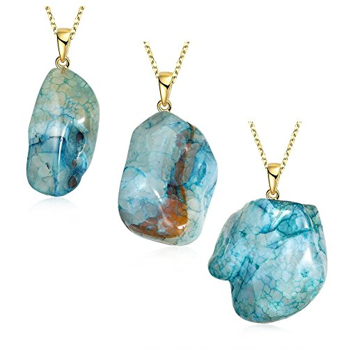 Dipped Raw Natural Crystal Quartz Drop Chakra Necklace Gold Plate Alloy Chain - Tj Maxx Costume Jewelry
