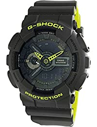 Men's G Shock GA110LN-8A Grey Rubber Quartz Sport Watch