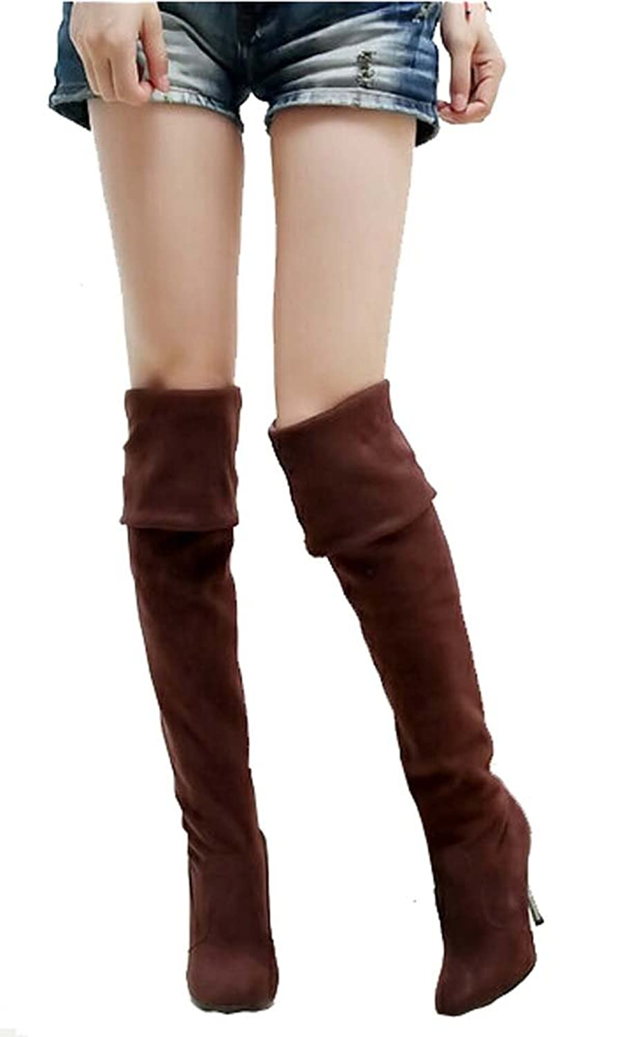 2014 Women High Heels Boots Sexy Fashion Autumn Winter Ladies Pointed Toe Long Over the Knee Boots