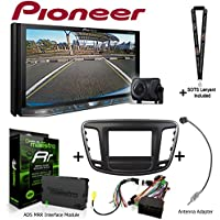 Pioneer AVH-4201NEX 7 DVD Receiver w/Backup Camera iDatalink KIT-C200 Dash and wiring kit for select Chrysler, ADS-MRR Interface Module and BAA22 Antenna Adapter and a SOTS Lanyard
