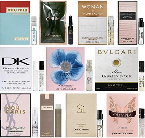 11 Women's Designer Fragrance Vial Sample Set Lot (Fragrance Vial)