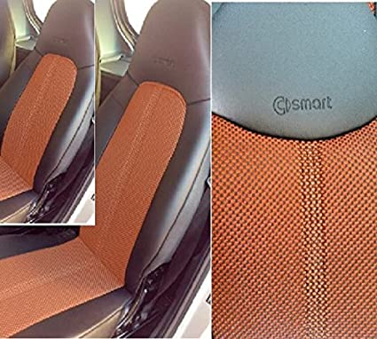 Mix Leatherette Two Tone Synthetic Fishnet Custom Fit Smart Car Seat Covers