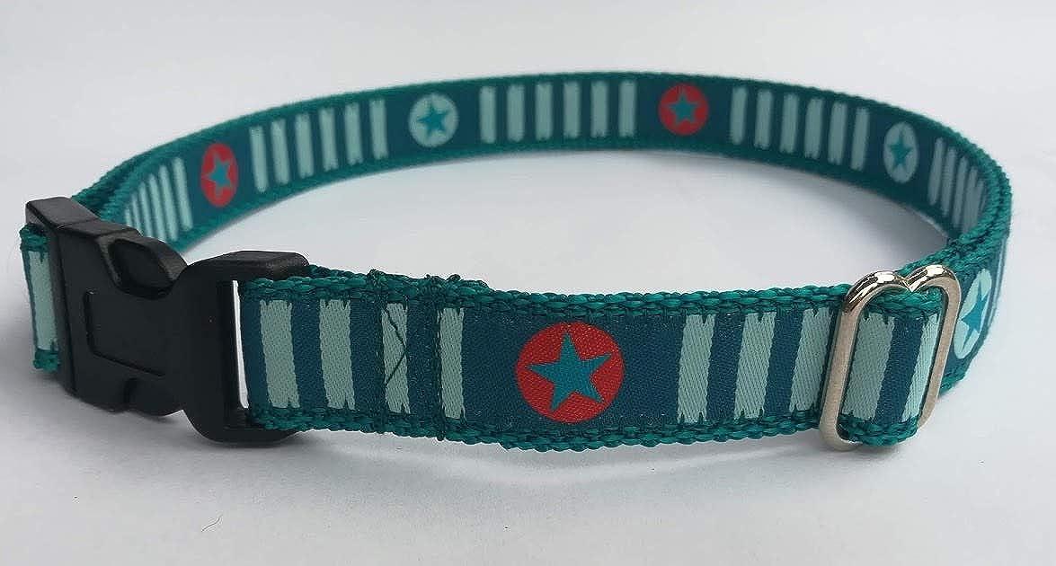 stitchbully Kinderg/ürtel f/ür Kindergarten und Schulkinder stars and stripes petrol mit Sternen und Streifen G/ürtel verstellbar von 50-90 cm