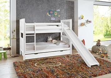 Etagenbett Wicky Buche Massiv Weiß Lackiert : Lll➤ etagenbett wicky buche massiv weiss lackiert relita im