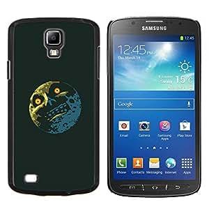 KLONGSHOP // Cubierta de piel con cierre a presión Shell trasero duro de goma Protección Caso - Troll Meme Lol Luna divertido - Samsung Galaxy S4 Active i9295 //