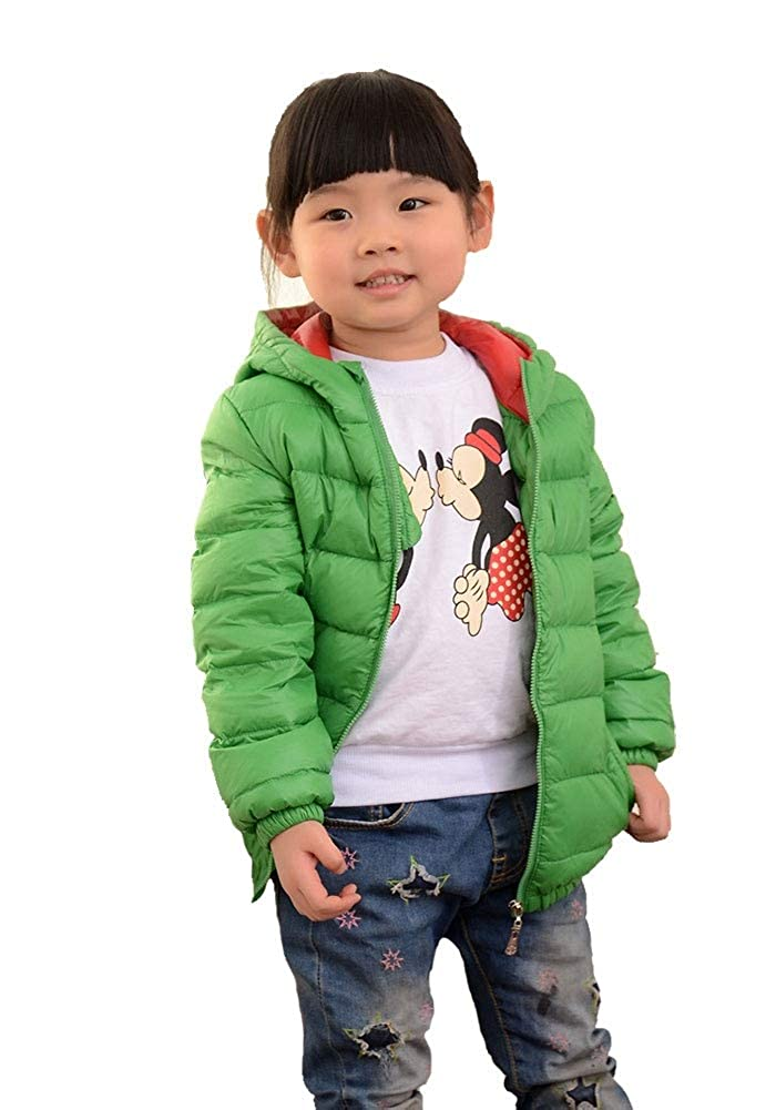 YZ-HODC Childrens Down Jacket New Girls Boys Autumn and Winter Light Down Jacket Short Hooded Down Jacket