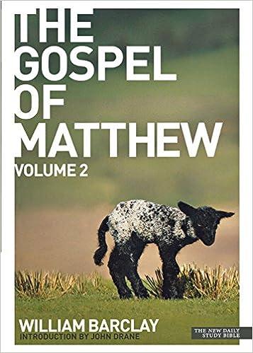 Book The Gospel of Matthew: v. 2 (Daily Study Bible)