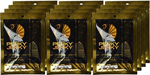 Perky Jerky Gluten Free More Than Just Original Turkey Jerky, 1 Ounce (Pack of 12)
