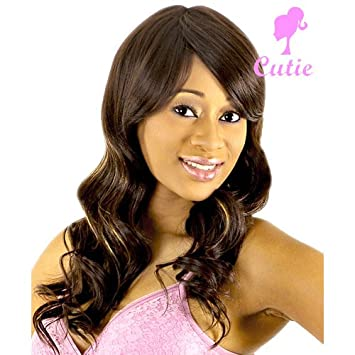 2f3ba8be0ad Amazon.com   FULL WIG CUTIE COLLECTION 11-BRAND NEW WITH TAG ( 1-JET BLACK)    Hair Replacement Wigs   Beauty