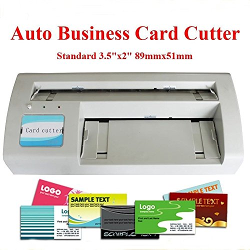 Brand New Automatic Business Card Slitter 89X51mm Card DIY 110V With 2000 Business Card Templates Send By Email