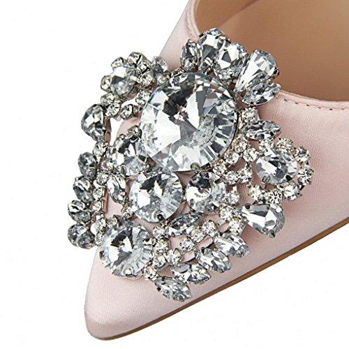 Sexy Stilettos Magnifique À Rose Femme De Strass Sandale Mariage Eu Aiguille 38 Élégantes Wedding 34 Chaussures Avec Talons Pointues Soirée Escarpins Solike qtgw6SZw