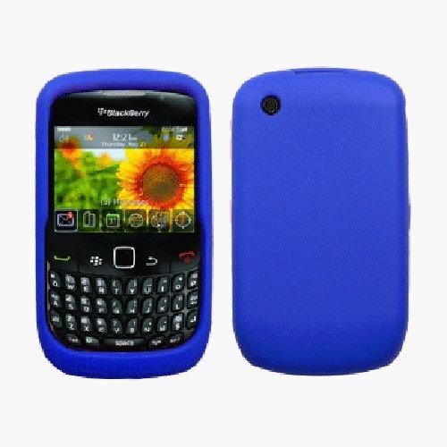 Boho Tronics Silicone Rubber Case / Skin / Cover for BlackBerry Curve 3G 9330 / 9300 / 8520 / 8530 (Dark Blue)