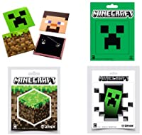 Minecraft Pin and Sticker 7-Piece Collectors Pack
