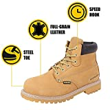 BOIWANMA Steel Toe Work Safety Boots for Men