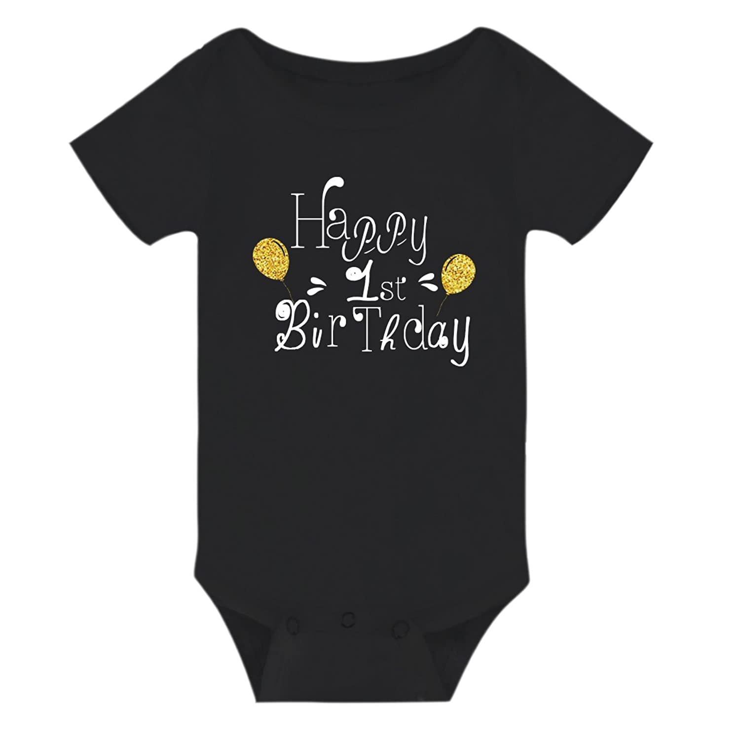 Infant Newborn Baby Girls Boys Happy New Years Fashion Jumpsuit Romper Clothes