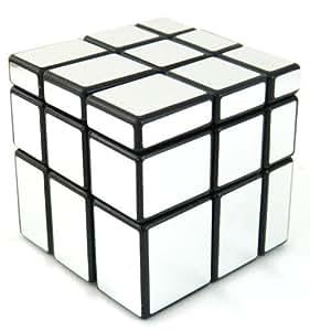 Mirror Blocks Shiny Silver Black Frame Magic Cube Puzzle Brain Teaser- MC333 by Lychee