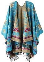 Wantdo Genluna Women's Tassel Pashmina Shawl Wrap Bohemia Cardigans