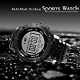 Mejorage GPS Smart Watch with Multiple Sports Modes Fitness Tracker Compass Message Notification Waterproof Smartwatch (Black)
