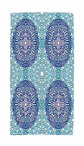 (Shorping Cute Travel Towel,Pattern Orient Texture Textile Fabric Feminine Lacy Ornament with Outline in Damask 30x60 Inch Large Pool Towels for Body Bath,Swimming,Travel,Camping,Sport)