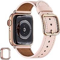 Mnbvcxz, Uhrenarmbänder, kompatibel mit der Apple Watch, 38 mm, 40 mm, 42 mm, 44 mm, Band aus Top-Grain-Leder, Ersatzband...