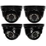 Q-See QTH8056D-4 1080p Dome Analog HD Security Camera 4-Pack (Black)