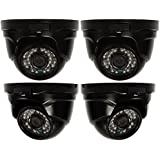 Q-See QTH8056D-4 1080p Dome AnalogHD Security Camera 4-Pack (Black)