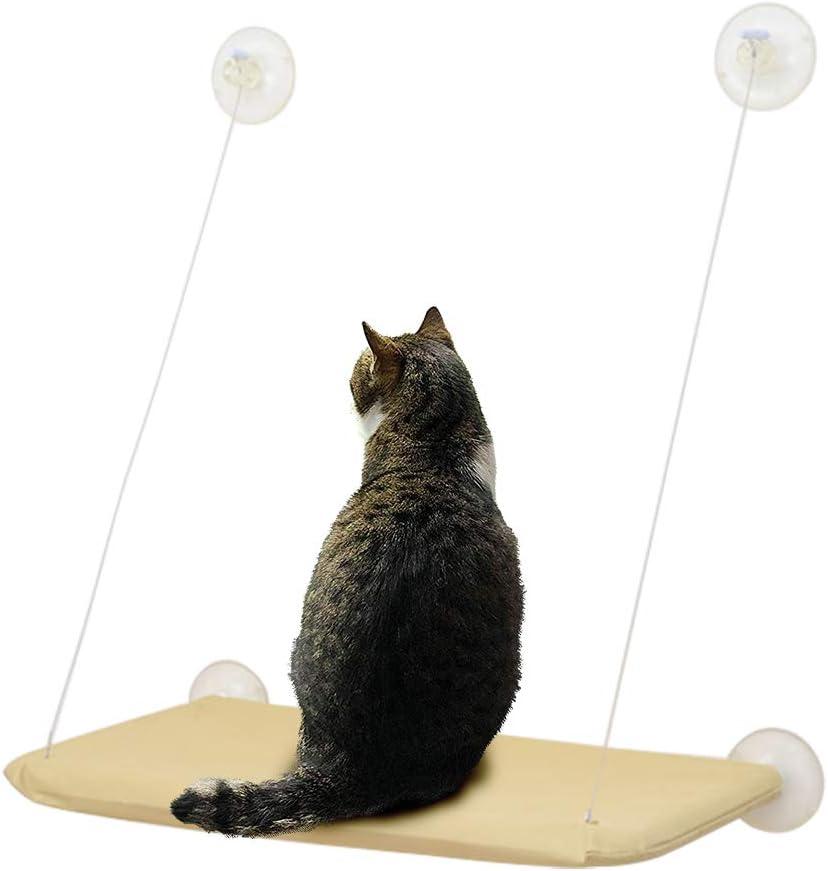 Jiyaru Gato Cama de Montaje en la Ventana Hamaca Cama Hammock para Mascotas Sunny Seat Lavable Cover Bed