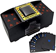 LIIBOT 2 Deck Automatic Card Shuffler with 1 Deck of Playing Card, UNO, Texas Hold'em, Poker, Home Card Ga