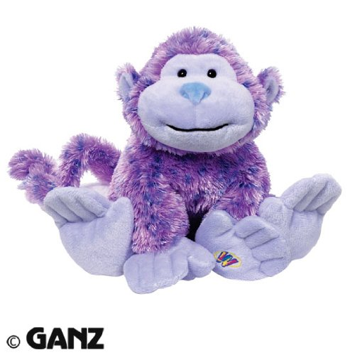 [Webkinz Sugarplum Cheeky Monkey Plush Toy With Sealed Adoption Code] (Sugar Plum Princess Costume Webkinz)