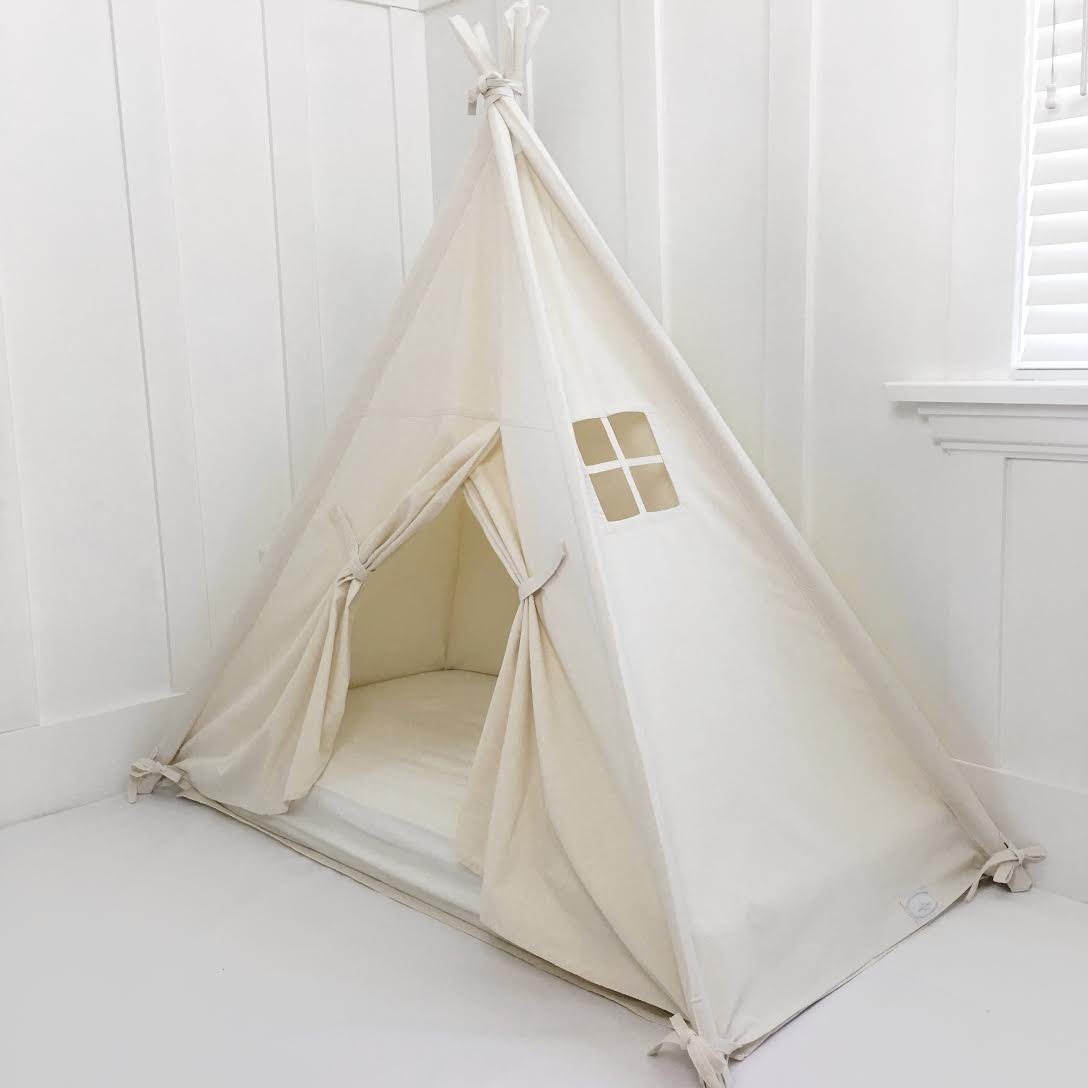 Domestic Objects Handmade Cotton Play Tent Canopy. Great for Toddler Transition to Big Bed - Crib with Doors by Domestic Objects (Image #5)