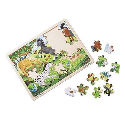 Melissa & Doug Jigsaw Bundle 48pc - Fairy Princess Castle and Horses: Melissa & Doug: Toys & Games