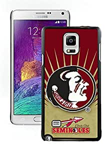 Hot Sale Samsung Galaxy Note 4 Case ,Popular And Unique Designed With NCAA Atlantic Coast Conference ACC Footballl Florida State Seminoles 2 Black Samsung Galaxy Note 4 High Quality Cover