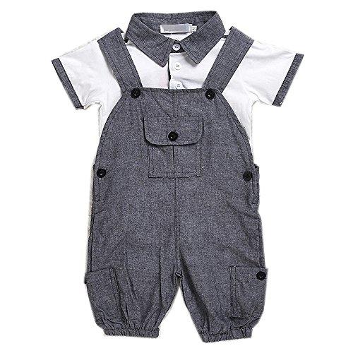Baby Boys Gentlemen Bowknot Rompers Long Sleeve Bodysuit - 7