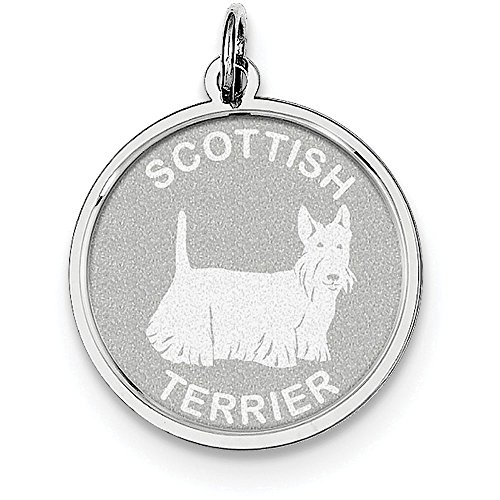 Finejewelers Sterling Silver Scottish Terrier Disc - Scottish Disc Terrier Charm