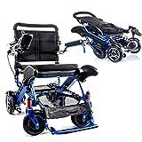 Geo Cruiser DX Lightweight Compact Folding Lithium Electric Power Wheelchair - BLUE