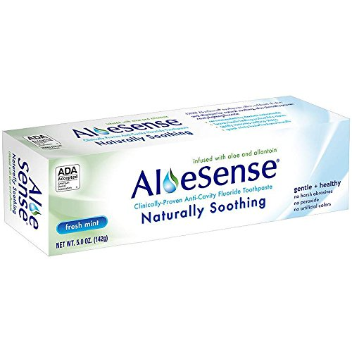 AloeSense Naturally Soothing Fluoride Toothpaste, Fresh Mint, 5 oz (1 ()