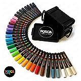 POSCA MARKER PEN PC-5M ''FULL RANGE 33 Pen Set - All Colours''