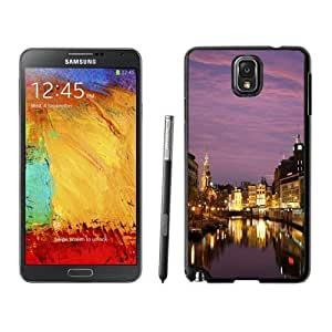 NEW Custom Diyed Diy For SamSung Note 4 Case Cover Phone With Night In Amsterdam_Black Phone