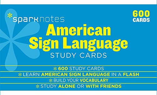 American Sign Language SparkNotes Study Cards Age Note Cards